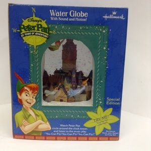 Peter Pan water globe with sound and motion
